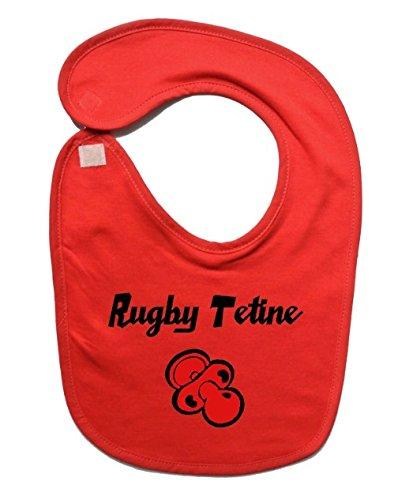 Babyslabbetje rugby stofzuiger rood/zwart