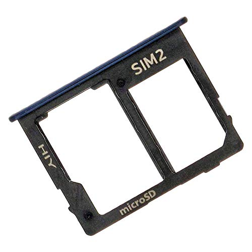 Samsung Galaxy J4+ (J415F), J6+ (J610F) Hybrid Dual SIM Kartenhalter und SD Tray, Original Ersatzteil, Schwarz