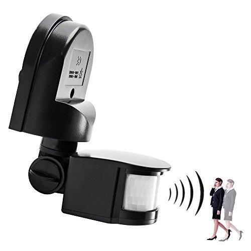 elfishjp 赤外線センサースイッチ モーションセンサー 最大 1200W 屋外/屋内セキュリティ自動 PIRモーションセンサースイッチ 人感センサー 高品質 防水 キッチン 台所やお手洗い 便所 トイレや廊下や玄関等にお勧め