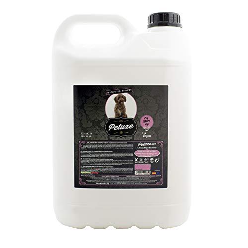 Petuxe Champú Vegano para Perros y Gatos. Texturizador Perro de Agua. Champú Mascotas (5000 ml)