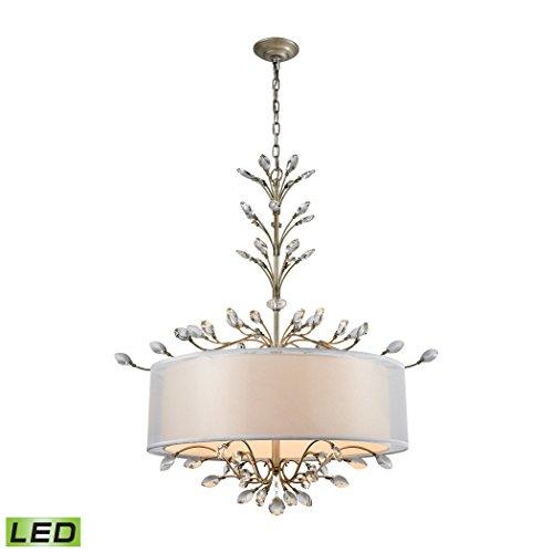 Elk Lighting 16283/6-LED Asbury 6 Light LED Aged Silver Chandelier