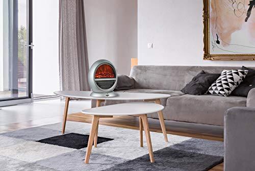 Arte El Fuego® Frankfurt Elektrische open haard, zilver
