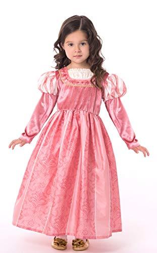 Little Adventures Coral Renaissance Princess Dress Up Costume for Girls (X-Large Age 7-9)