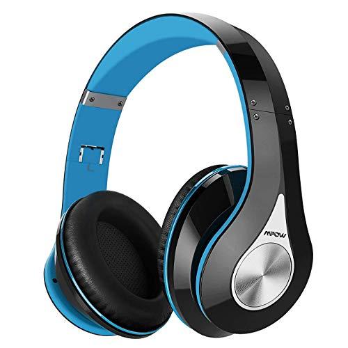 Mpow 059 Wireless Headphones Over Ear, [25Hrs Playtime] Bluetooth Headphones Wireless, Hi-Fi Stereo Bass, Foldable, Soft Memory-Protein Earmuffs, CVC6.0 Mic, Headset for Cellphone PC Laptop TV Travel