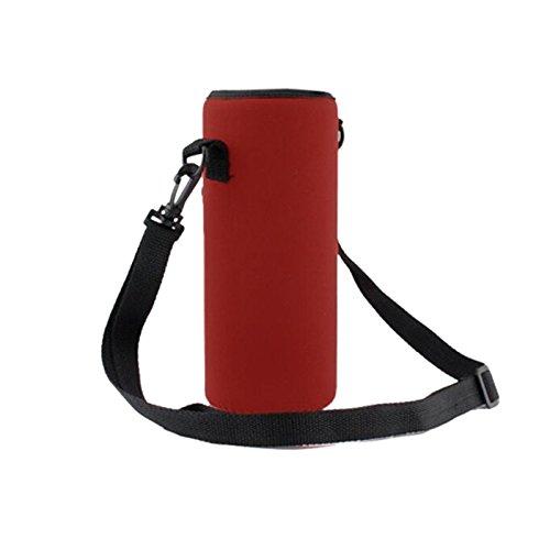 Auntwhale Bolso Aislado de la Cubierta del Portador de la Botella de Agua 1000ML Bolso de la Bolsa de la Bolsa de la Correa del sostenedor Camping Deportes al Aire Libre (1 PC)