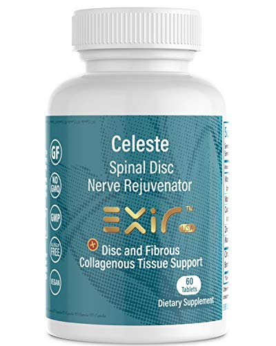 EXIR® Celeste Spinal Disc Rejuvenator - Fibrous Collagen Tissue Support Formula Dietary Supplement - Herbal Pain Relief, Joint Support, Healthy Inflammation Response, 60 Tablets
