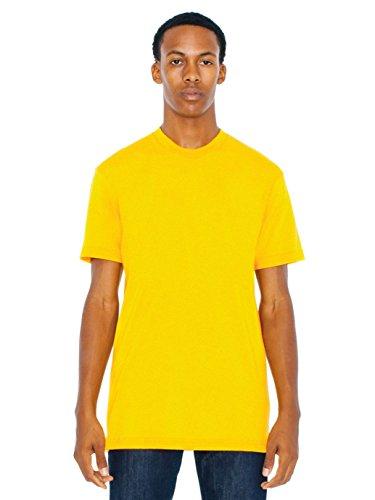 American Apparel Men 50/50 Crewneck T-Shirt Size 2XL Gold