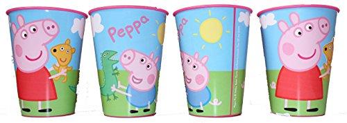 Peppa Pig Wutz drinkbeker sapbeker beker set van 4