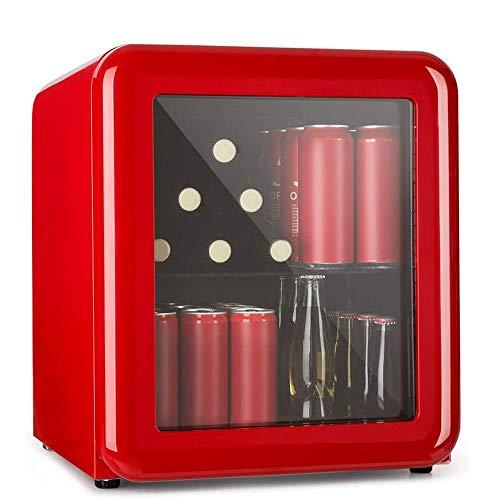 FGDSA Refrigerador De Bebidas - Mini Refrigerador Cosmético Retro Bar, Refrigerador Retro, 0-10 & Deg;C, Solo 39 Db, Diseño Retro, Utilizado En Cosméticos Y Cuidado De La Piel - 60L, LCD + Luz Led