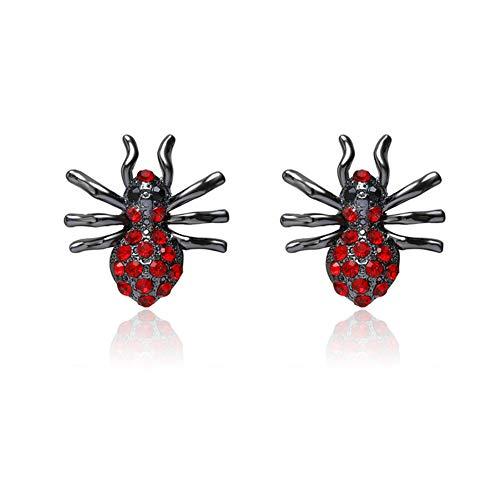 HuaiQing Pendientes de cristal de araña para mujer con diamantes de imitación (2)