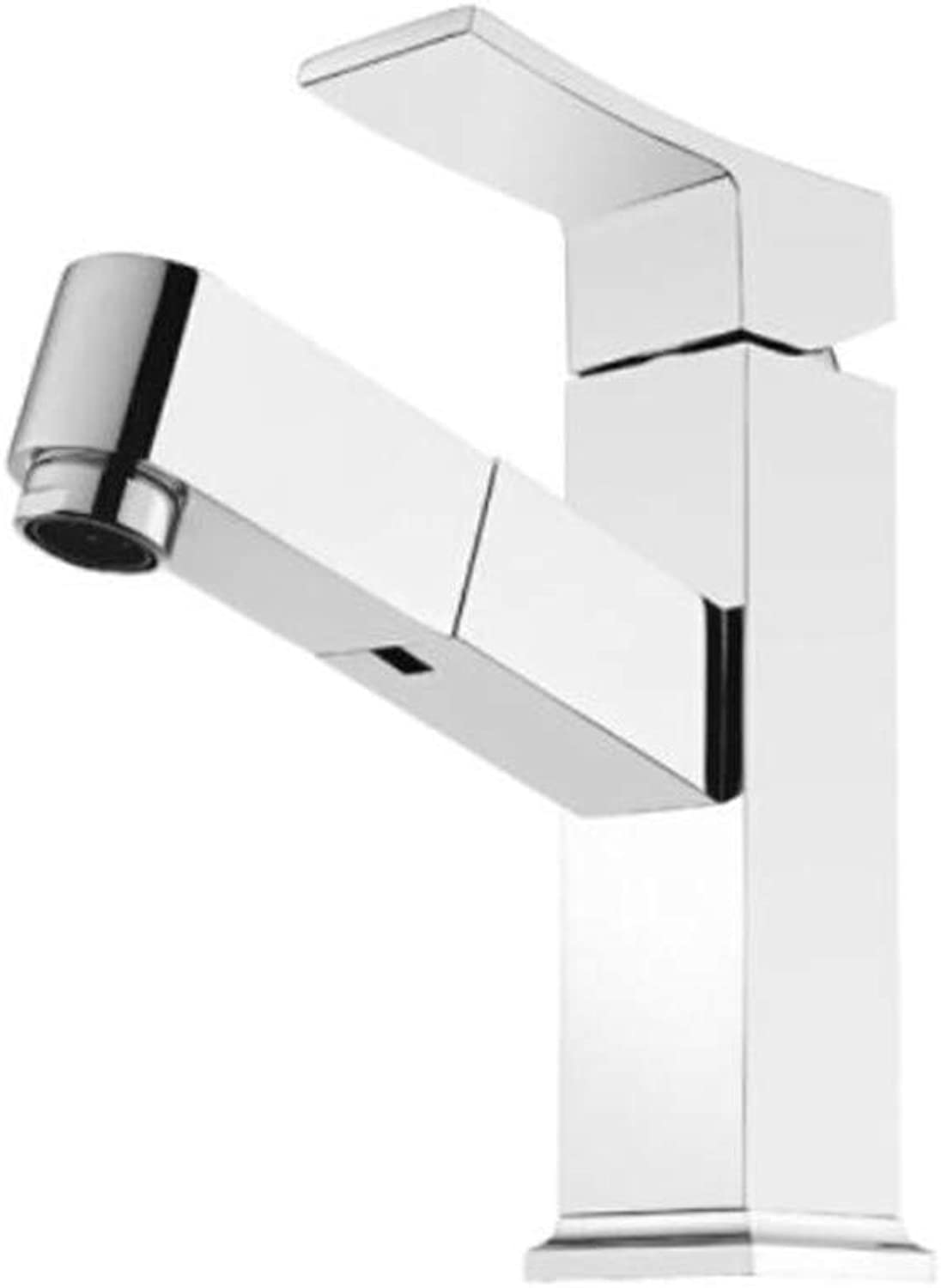 Faucet Waste Mono Spoutcopper Drawing Cold and Hot Water Faucet for Square Platform Lower Basin