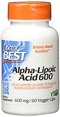 Doctor's Best 600 mg Alpha Lipoic Acid Capsules