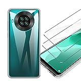 LJSM Funda para Cubot Note 20 / Cubot Note 20 Pro + [2 Piezas] Vidrio Templado Película Protectora - Transparente Carcasa Silicona TPU Suave Caso Case para Cubot Note 20 (6.5')