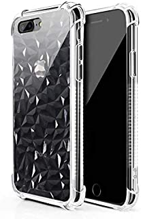 Manords Clear iPhone 7 Plus Case iPhone 8 Plus Case, Soft Silicone Shock Absorption Full Cover Protective Compatible iPhone 7 Plus 8 Plus Case