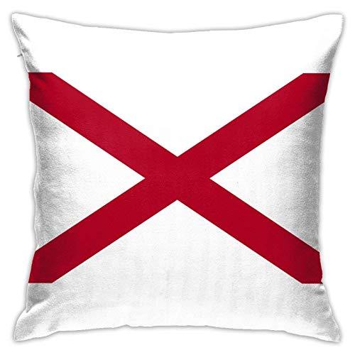 Bandera de Alabama almohada cuadrada decorativa sofá coche hogar funda de almohada 45,7 x 18 pulgadas