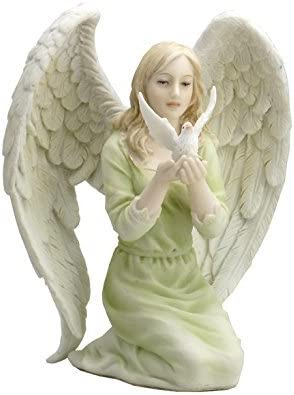 Angel Ranking TOP15 Kneeling with Dove Statue Hands in Virginia Beach Mall Sculpture