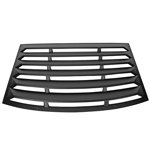 Window Louver Compatible With 2010-2015 Chevy Camaro | Unpainted Black PUR Rear Window Scoop Louver Sun Shade Cover Rain Guard by IKON MOTORSPORTS | 2011 2012 2013 2014
