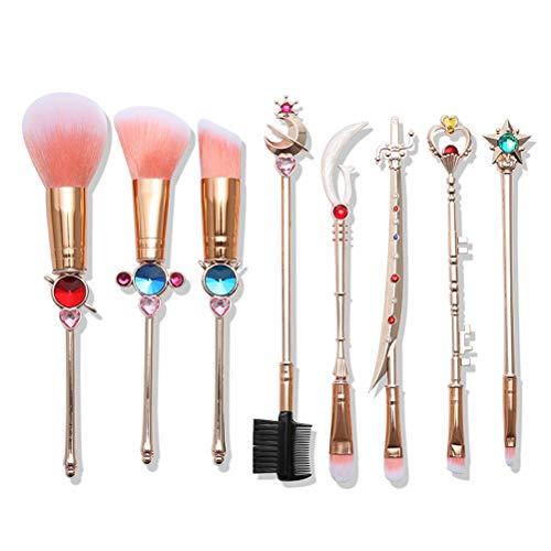 Daxoon 8 Pcs Magique Pinceau De Maquillage Ensemble Cristal Diamant Magique Fard À Paupières Eyeliner Foundation Pinceau Outils