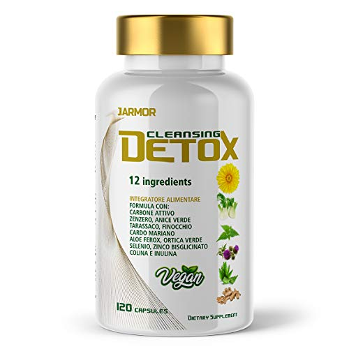 Detox Fegato ed Intestino Depurativo Drenante Antiossidante Difese Immunitarie 120 Capsule Vegan