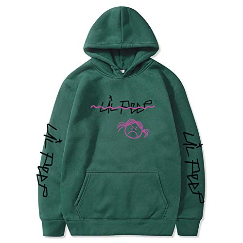 EMPERSTAR Lil Peep Shirt Pullover Chaqueta con Capucha Talla Grande Pop Lil Peep Sudadera Azul Marino Sudadera con Capucha Unisex Addict L