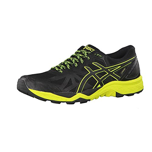 Asics Gel-Fujitrabuco 6 G-TX, Zapatillas de Running para Asfalto Hombre, Negro (Black/Safety Yellow/Black 9089), 42 EU