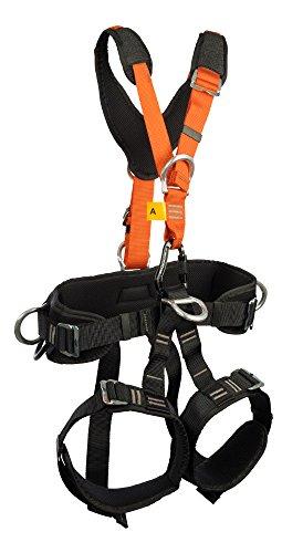 Treeup Sicherungsgurt P 90 für Baumpfleger Dachdecker Handwerker Klettergurt (M-XL, orange)