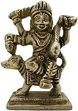 Divya Mantra Hindu God Sri Kaal Bhairav/Bhero Baba Sculpture Statue Murti-Puja, Meditation, Prayer, Office, Business, Vastu, Showpiece Home Decor Gift Item/Product-Money, Good Luck, Prosperity-Yellow