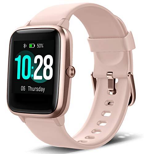 Smartwatch Contapassi Orologio Fitness Tracker Donna Uomo, Smart Watch GPS Impermeabile IP68 Cardiofrequenzimetro da Polso, Orologio Sportivo Activity Tracker Calorie Cronometro Bambini Android iOS