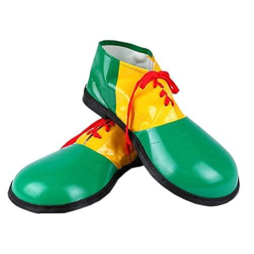 Zapatos De Payaso De Halloween, Unisex para Adultos Zapatos De Payaso Botas Disfraces Disfraces Disfraces De Disfraces Accesorios (Color : Green)