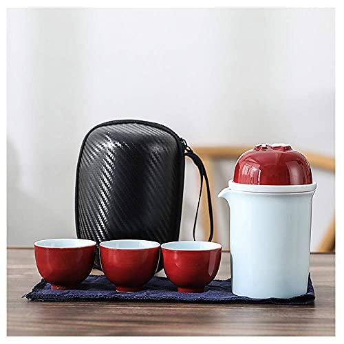 小さなガラスのお茶セット、磁器のお茶セット、旅行のお茶セット、お茶セットのギフト、屋外のポータブルお茶セット、中国の大人のお茶セット、A