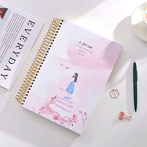 YUYUO 150 Hojas Agenda Del Cuaderno Agenda Diaria Estudio Mensual Trabajo Bloc De Notas Agenda Papelería Escolar