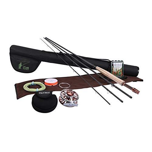 AYWTBH Telescopic Fishing Rod Combo Fly Fishing Rod Combo Set Kit...