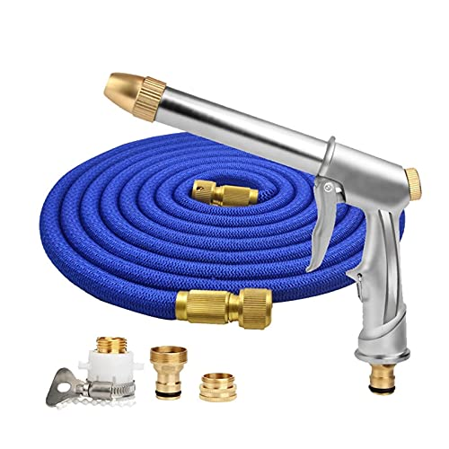 DFNESNN Extendable Garden Hose High Pressure Water Gun Kit, Retractable Garden Sprinkler Hose, The Best Choice for Watering and Washing Tools (Size : 22.5m)