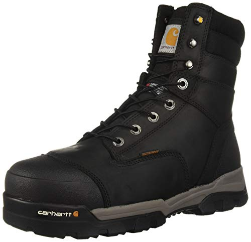 Carhartt Men's CSA 8-inch Ground Force Wtrprf Insulated Work Boot Comp Safety Toe CMR8959 Industrial, black oil tanned, 14 W US