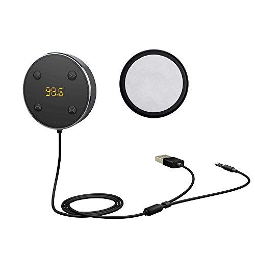 2 in 1 Bluetooth Receiver In car FM Transmitter & Dual USB Car Charger (Black)