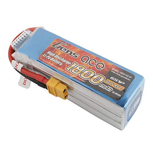 Gens ace Paquete de batería Lipo 1800mAh 22.2V 45C 6S con XT60 para Mini Coche a Escala 1/16, 1/18, helicóptero pequeño, etc.