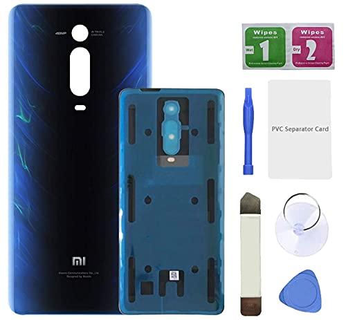 Eonpam Tapa batería Vidrio Trasera Reemplazo para (Xiaomi Mi 9T / 9T Pro) Kit reparación Original Cristal Trasero (Azul)