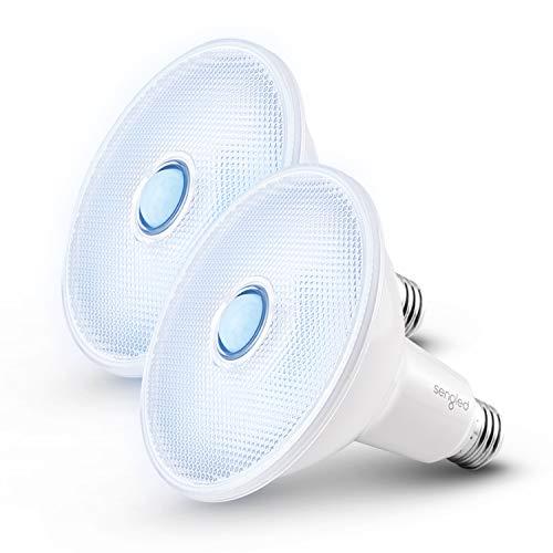 Sengled Motion Sensor Outdoor Flood Light Bulbs, Dusk to Dawn LED Security Light E26 Base PAR38 Motion Activated 5000K Daylight,1500LM, Waterproof LED Light Bulbs for indoor-outdoor, 2 Pack 4th Gen