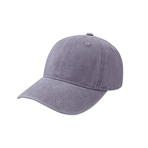 Sombrero Hembra Color sólido Viejo Gorra de béisbol Recubierto de algodón Tapa de Lavado Exterior Anti-Smashing Visor Masculino Gorra doblada 灰色 可 调节