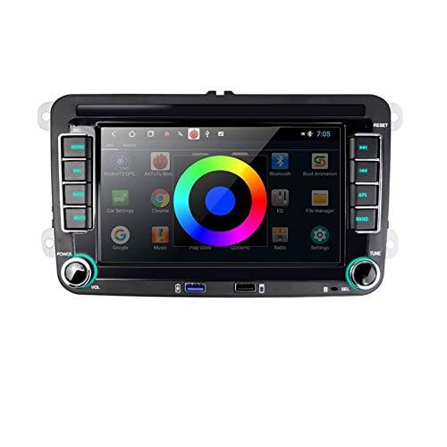 KCSAC Android Coche Multimedia Player 2G + 32G 2 DIN CAR RADIO GPS AJUSTE PARA VW/GOLF/POLO/TIGUAN/PASSAT / B7 / B6 / FIT PARA SEAT/AJUSTE PARA LEON/AJUSTE PARA SKODA/Octavia