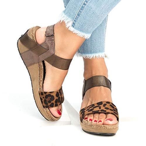 Find Bargain Meiliwanju Women's Ankle Strap Open Toe Summer Vegan PU Leather Platform Sandal Casual ...