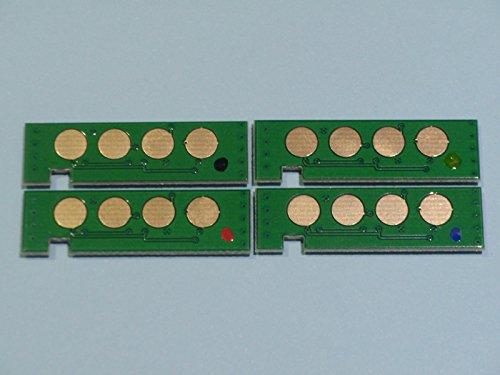 4x Toner Reset Chip Chips (4 Farben) für Samsung CLP-360 / CLP-365 / CLX-3300 / CLX-3305 CLT-406