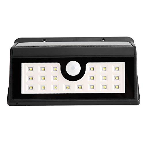 Luz con sensor de movimiento PIR, luz solar, interruptor de tres velocidades 20 LED para jardín al aire libre
