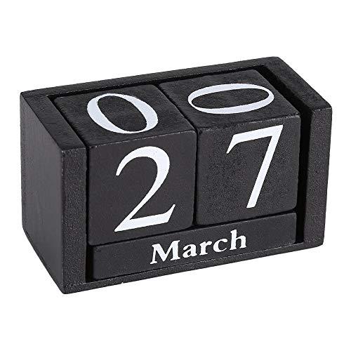 Schneespitze Calendario perpetuo de Madera Decorativos, Adornos de Oficina,Inicio Adornos Decorativos,Madera Adornos Decorativos Nórdico elegante Calendario