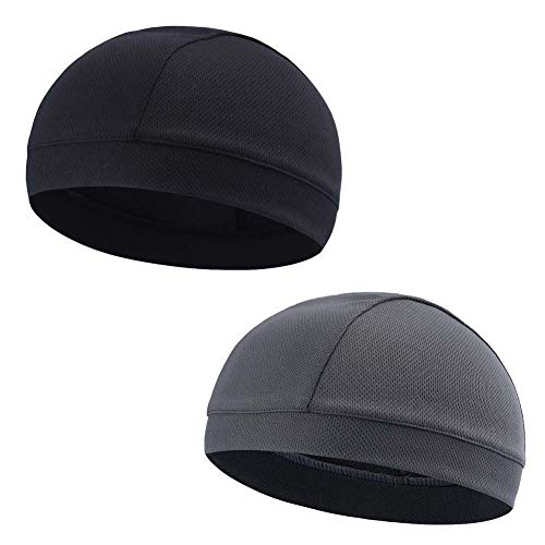Koolip Moisture Wicking Skull Cap/Helmet Liner/Running Beanie Caps - Motorcycle Cycling Breathable Dome Cap Sweatband
