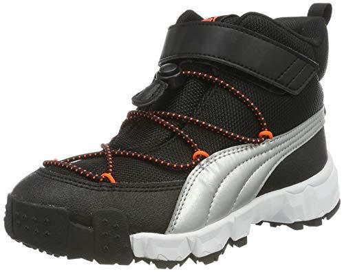 Puma Unisex-Kinder Maka V PS Sneaker, (Puma Black-Nrgy Red 03), 29 EU