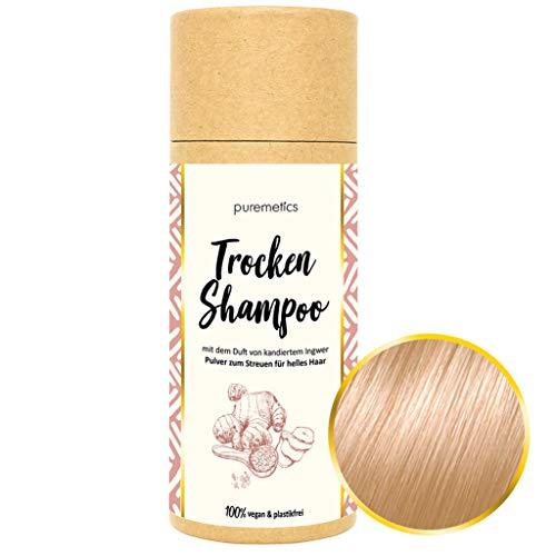 puremetics Zero Waste Trocken Shampoo für helles Haar (Ingwer Kandis) 100% natürlich, vegan & plastikfrei