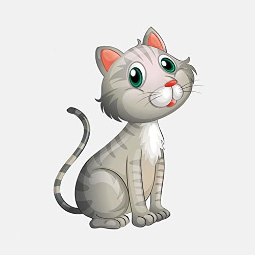 LGDQ Car Sticker 9.3Cm * 12.2Cm Car Sticker Cute Pet Cat Pvc Decoration Sticker Best Little Gifts For Car Lovers