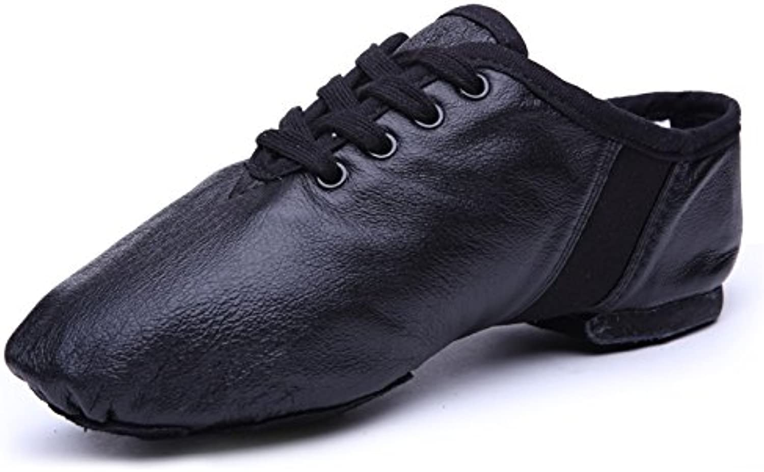 YJiaJu Professional Jazz Dance shoes, Practice Light Weight Jazz Boots Lace Up Leather Boots for Women Men