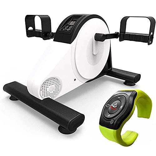 WGFGXQ Ejercitador motorizado de Pedal para piernas y Brazos, Mini Bicicleta estática con Control Remoto de muñeca, Fisioterapia electrónica y Pedal de rehabilitación, Entrenador motorizado para di